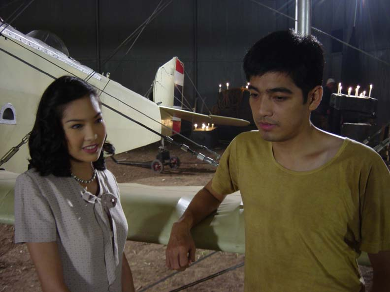Malai and Duang in the hangar