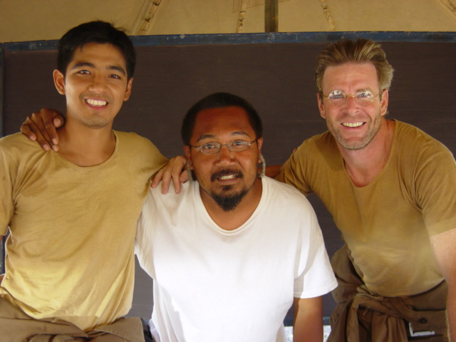 Sonram (Duang), Khun Pia and Tom (Pierre)